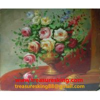 Canvas Oil painting 100%hand painter flower thumbnail image