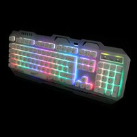 New LED backlit best wired multimedia semi mechanical keyboard for gaming