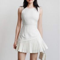 Basic Loose Midi Dress (WHITE)