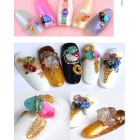 colorful irregular stone nail art 94