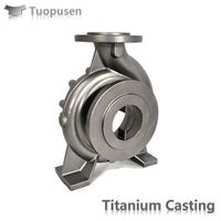 Titanium precision casting C5 HIP pump impeller