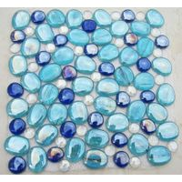 8mm thickness glass pebble mosaic for pool & wall PG05