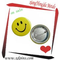 custom metal smile face button badge