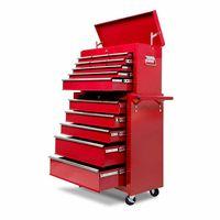Heavy Duty 14 Drawers Garage Storage Steel Modular Tool Cabinet With Mechanic Trolley On Wheels