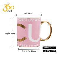 Fashion Heat Press White Porcelain Ceramic Coffee Cup Mug For Sublimation
