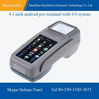4.3 inch android pos terminal with handheld styple,support barcode reading,thermal printing