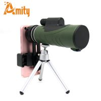 10x42 Waterproof Monocular Telescope with Tripod and Smart Phone Mount for Mobile Phone