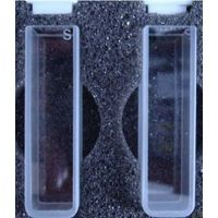 transparent quartz glass cuvette cell with four sides transparent