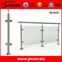 Jinxin AISI 304 Round Post Glass railing YK-9101