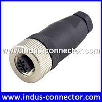 IP67 waterproof female 5 pin sensor m12 assembly connector