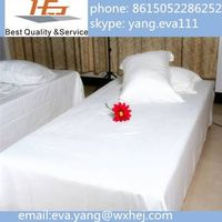 Hot sale Luxury star hotel white cotton sheets sets