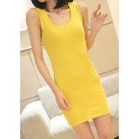 2013  simple solid colored  cotton vest for ladies