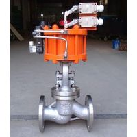 Pneumatic Actuator Flanged Globe Valve with Positioner Single Acting thumbnail image