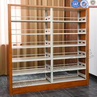 Double Side Wooden Plate Protect Metal Bookshelf Price