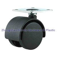 Furniture Casters Black Office Chair Casters Twin Wheel Nylon Series thumbnail image