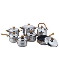 AKITA SUPERIOR, KURIWARE,VANKOFT ,FRACIEL 12-Piece stainless steel cookware set