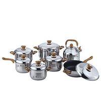 AKITA SUPERIOR, KURIWARE,VANKOFT ,FRACIEL 12-Piece stainless steel cookware set