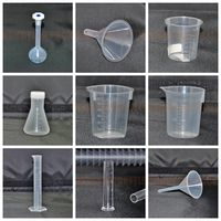 Supply 100% new plastic 100ml measuring cup for laboratory