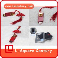 Red chinese knot 8g usb flash driver full capacity manufacture