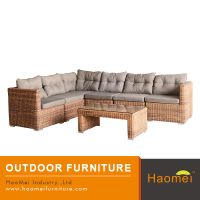 Wholesale cheap 6 seater l shape comfortable high back leisure and outdoor sofa