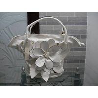 PU Leather White Ladies Shoulder Handbag Purse Bag New thumbnail image