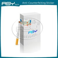 Cigarette label with Refraction pearl fluorescent