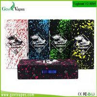 Govi best selling e cig Tugboat V2 80w Zombie Splatter dual 18650 kit tugboat