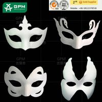 2015 Factory Wholesale Full Face Blank White Masquerade Masks for Party