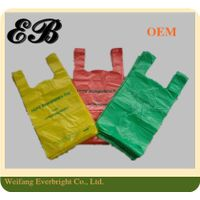 100% Bio-degradable Plastic Bags T-shirt HDPE Vest Bag Plastic Packaging Bag