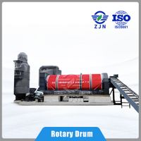 ZJN Rotary cylinder dryer for industries solid waste drying for Pomace Drying