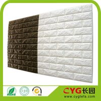 3d self adhesive pe foam brick wallpaper