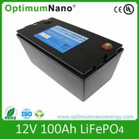 Lithium battery 12V 100AH for caravan marine boat battery