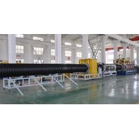 Qingdao PE double wall corrugated pipe production line