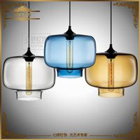 Edison Bulbs Stained Glass Chandeliers, Niche Modern Restaurant Hotel Lightings LED thumbnail image