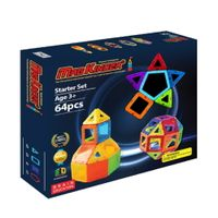 Magkinder 2D Magnetic Blocks Starter Set 64 pcs