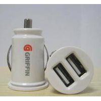 Double Usb Mini Car Charger for iphone and ipad