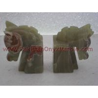 Manufacturers & Exporters of onyx horse bookends onyx horse head bookends