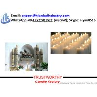 Church Use Paraffin Wax White Color Religious Candles Pillar thumbnail image