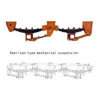 American Type 2 Axle Trailer Mechanical Suspension