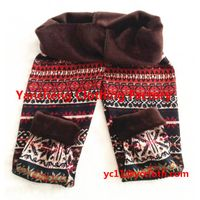 more than 100 patterns Xmas deer snowflake fleece cotton leggings wholesale