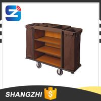 Hotel Metal Housekeeping trolley Maid Cart