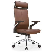 Brown leather office chair office furniture swivel chair office swivel leather chair