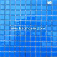 Blue Crystal Glass Mosaic For Pool Tile