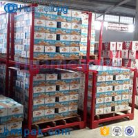 Foldable hot sale metal industrial warehouse storage portable stacking nestainer racks thumbnail image