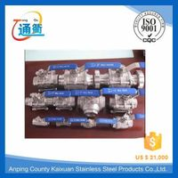 casting stainless steel handle ball valve with manufacture