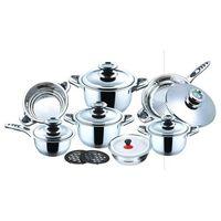 16pcs wide edge cookware set