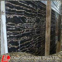 Black Golden Flower Marble Slab