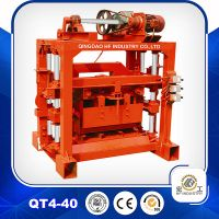 small manual bock making machine QT4-40 block machine