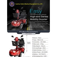 Fabio Travel Heavy Duty Scooter, Luxury and Eco-Friend,Supports up to 440lb,4 Wheel thumbnail image