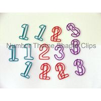 Numbers shaped clips